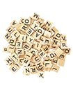 26 English letters Natural wooden children's game blocks Early childhood puzzle letters pine 200 pieces