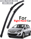 "FORD FOCUS MK2 2004-11 Front Windscreen 26"" 17"" Aero Wiper Blades Set (For Right Handed Drive)"