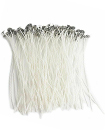 100Pcs Pre Waxed Candle Wicks for Candle Making with Sustainers - 15cm Long