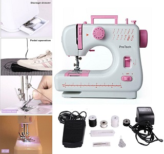 Portable Electric Multi-function Domestic Sewing Machine  LED 12 Stitches UK