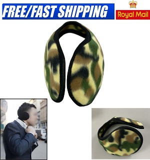 EAR MUFFS SOFT FLEECE WRAP AROUND WINTER WARM Ski ONE SIZE FITS ALL